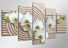 Tableau déco Moderne Spa Orchidée 5 partie Image sur toile 160 x 80 cm