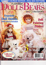 Dolls Bears Collectables magazine - Vol 6 No 5 - patterns