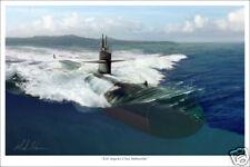 Los Angeles Class Submarine Marine Art Print