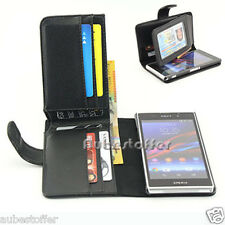 NEW Long Wallet Flip Leather Case Cover For Sony Xperia Z1