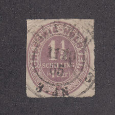 Schleswig-Holstein Sc 5 used 1865 1 1/3s red lilac Numeral, Scarce