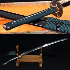 Clay Tempered Folded Steel FullTang Blade Hawk TSUBA JAPAN SAMURAI SWORD KATANA