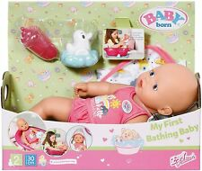 Baby Born My First Bathing Baby 30cm Doll Set New Kids Fun Role Play Toy Age 2+