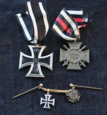 Eisernes Kreuz 2. Klasse + Frontkämpferehrenkreuz mit 2er Miniaturenkette 1. WK