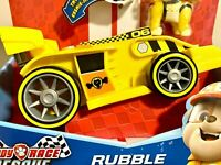 PAW Patrol, Ready, Race, Rescue Rubble's Race & Go Deluxe Vehicle with Sounds