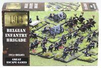 1914 BEL001 Belgian Infantry Brigade (12mm Miniatures) WWI Great Escape Games