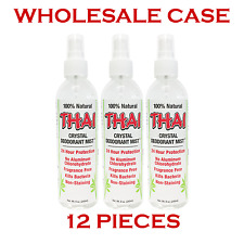 100% NATURAL THAI CRYSTAL MIST SPRAY DEODORANT (8oz) - Wholesale Case (12 pcs)