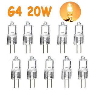 10x 20W G4 12V Halogenlampe Warmweiß Stiftsockellampe Leuchtmittel Glühbirnen