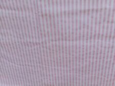 "Croscill Shower Curtain Pink&White Stripe Cotton USA ""Cottage Shabby Chic"" Fabri"