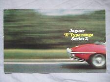 1970 Jaguar E-type Series 2 range foldout Brochure