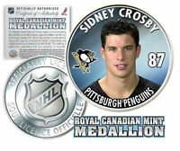 """SIDNEY CROSBY 2005-06 ROYAL CANADIAN MINT MEDALLION """"1ST EVER"""" """"ROOKIE"""" COIN!"""