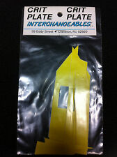 Yellow CRIT PLATE INTERCHANGEABLES Pro Decal Sticker Set Old School BMX Number