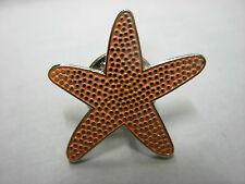 Starfish pin badge. Star fish. Seaside shell