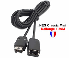 Câble d'Extension Rallonge 1.80m pour manette Nintendo Super NES Mini Classic