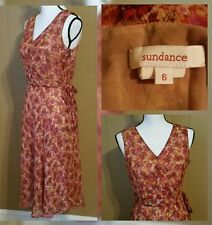 Sundance Boho Festival Sun Dress Foral Silk Lined  Size 6 MED Mint!