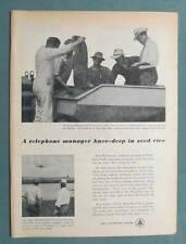 Orig 1957 Bell Telephone Ad Photo Endorsement Jack Harmonson Woodland Ca