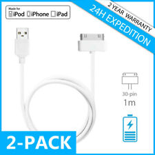 2IN1 30-PIN CHARGEUR CHARGER CHARGING DATA CABLE 1M IPHONE 3G 3GS 4 4S IPAD IPOD