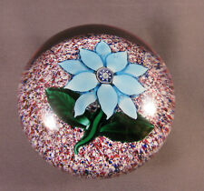 ANTIQUE 19TH Century BOSTON SANDWICH CLEMATIS PAPERWEIGHT, c.1870-1887