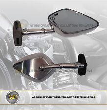 POUR HYOSUNG COMET GT 125 R 2007 07 PAIRE DE RÉTROVISEURS EN ALUMINIUM SPORTIF H