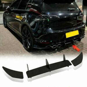 Rear Bumper Shark Fin Diffuser Lip Side Splitters For Volkswagen Golf 7 MK7 R