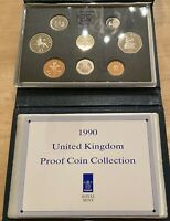 1990 UK Great Britain 8 Coin Proof Set In Original Display Package With COA
