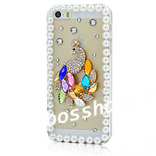 Luxury Bling Crystal Diamond Rhinestone Hard Clear Case Cover For Cell Phones E