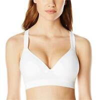 Jockey Women's Molded Cup Seamless Bra, Pure White, Large, Pure White, Size -1.0