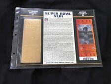 Super Bowl 43 Steelers vs Cardinals 22kt Gold Ticket Panel - Willabee Ward (NEW)