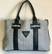 NEW! GUESS MARCIANO BRIGHT CANDY BLACK SHOPPER SATCHEL TOTE BAG PURSE SALE