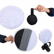 2in1 31cm 18%Gray card for White balance Card Board Round Flash Diffuser Softbox