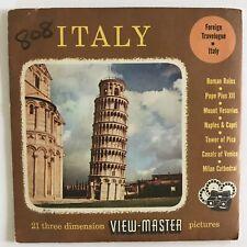 Vintage Sawyer View-Master Reels, Italy, 3 Reel Set