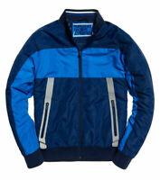 Superdry Men's Size Large Otis Padded Track Jacket, Classic Blue