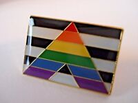 STRAIGHT ALLY Flag Lapel Pin - Superior High Quality Enamel (LGBT Gay Pride)