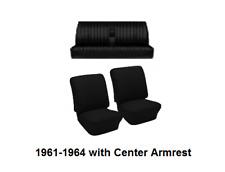 VW 61-64 Type 3 Fast/ Notchback TMI Seat Upholstery w/ Armrest Basketweave Vinyl