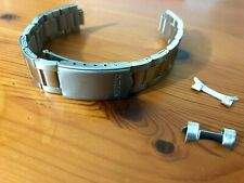 18MM CITIZEN WATCH STRAP MIDDLE POLISH LINKS CURVED LUGS, NEW.