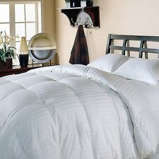 350 Thread Count DAMASK STRIPE WHITE DOWN COMFORTER - King Size