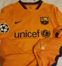 07-08 Barcelona Match worn Match issued Champions League Andres Iniesta Jersey