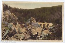 Pass of Killiecrankie, Perthshire, Scotland vintage Postcard - Soldier's Leap