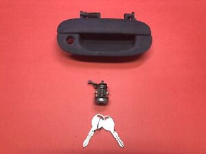 1994-2001 DODGE RAM 1500 DRIVER FL DOOR HANDLE & LOCK CYLINDER 2 KEYS USED!
