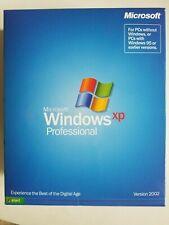 NEW SEALED Retail box Microsoft Windows XP Professional 32 bit 2002