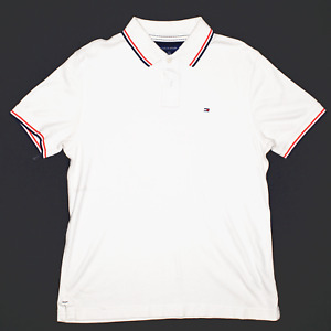 TOMMY HILFIGER Cream Regular Short Sleeve Polo Shirt Mens L