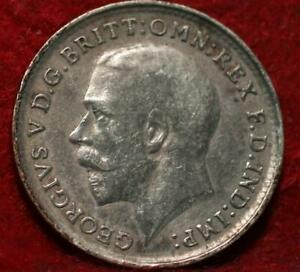 1919 Great Britain 3 Pence Silver Foreign Coin