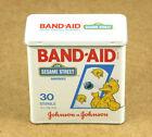 Johnson & Johnson Sesame Street Band-Aid 1990 Vintage Empty Tin Box 82x90mm