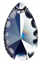 10 Clear Lead Crystal 50mm Fluted Teardrop Pendant Asfour 973 Chandelier Prisms