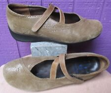 WOLKY Beige Snake Criss Cross Comfort Mary Janes NOBLE Shoes 41