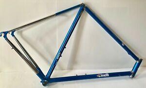 Cinelli Supercorsa Blue Steel Frame and Fork set - handmade 56cm