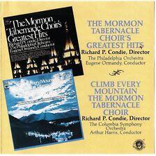 MORMON TABERNACLE CHOIR Greatest Hits+Climb Every Mountain CD CBS rare oz 1988
