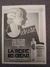 """PUBLICITÉ DE PRESSE 1932  """"crème-LA REINE DES CRÈMES"""""""