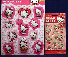 ** HELLO KITTY 3d Sticker **, ** HELLO KITTY Crystal-Glitter-STICKER ** paniini ** NUOVO