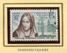 STAMP / TIMBRE FRANCE OBLITERE N° 1214 / CELEBRITE / DESBORDES VALMORE